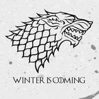 Чаша Game of Thrones Stark Winter is Coming бяла
