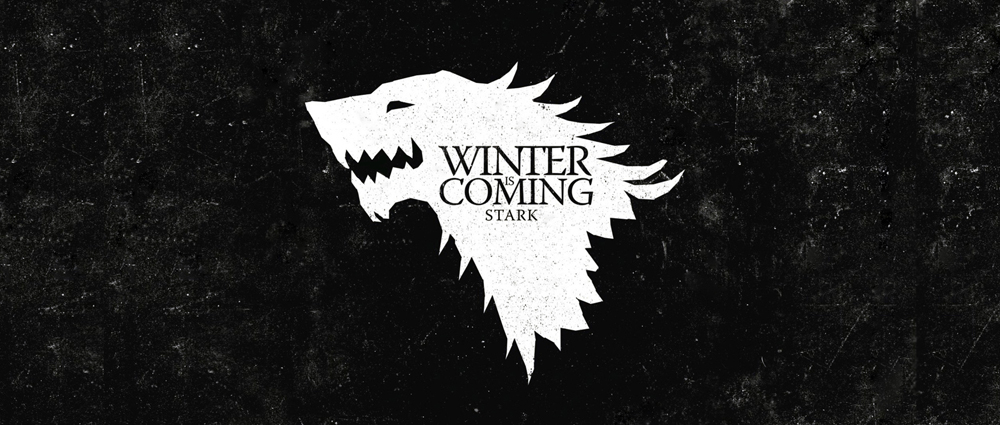 Чаша Game of Thrones Stark Winter is Coming черна