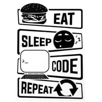 Чаша за програмисти Eat Sleep Code Repeat