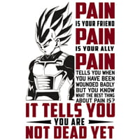 Чаша с Vegeta Pain is Your Friend